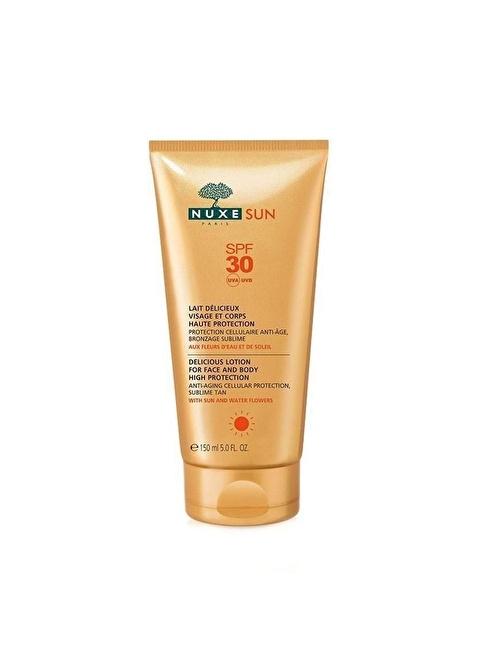 Nuxe Sun Lait Delicieux Protection Spf30 - Güneş Koruyucu Yüz ve Vücut Güneş Sütü 150 ml Renksiz